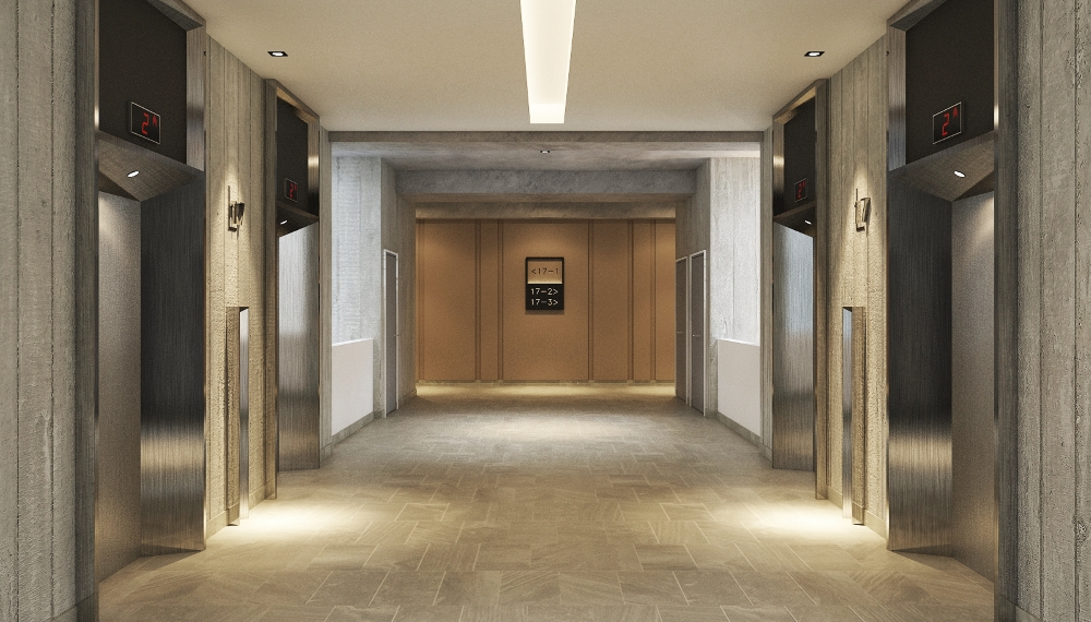 The 17 Floor Lift Lobby